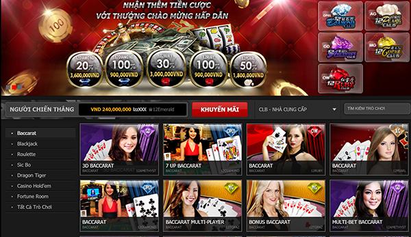 Casino trực tuyến 12Bet hấp dẫn