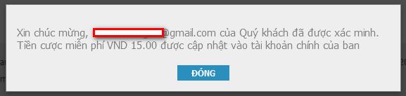 Xác nhận email tại W88 thành công