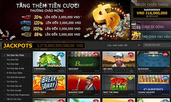 Các trò chơi casino 12BET
