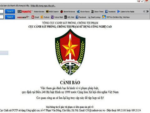 Cảnh báo trên trang M88.com