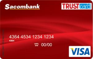 Sử dụng thẻ Visa Trust Card của Sacombank khi thanh toán trực tuyến